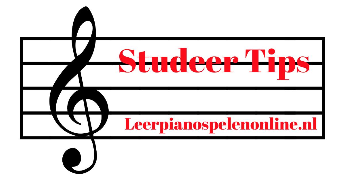 Studeer Tips voor het pianospelen