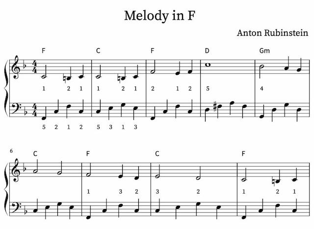 Melody in F van Anton Rubinstein